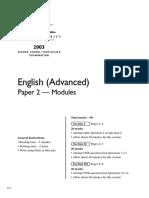 2003 Exam Paper 2