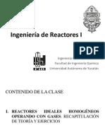 13. Reactores Homogéneos Ideales en Fase Gaseosa