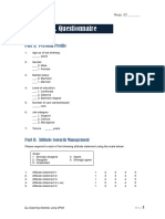 W3 Sample Questionnaire and Dummy Tables