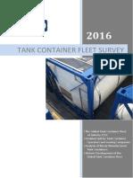 Tank Container Fleet Survey 2016