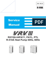 Si34-803B - Service Manual VRVIII RXYQ5-54PAY1- PAYL- PTL R-410A Heat Pump 50Hz- 60Hz_Service Manuals_English