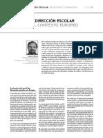 La Direccion Escolar en el contexto Europeo