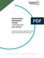 Auckland Council Governance Review Released Nov 2016