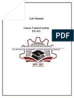 Linear Control System Manual