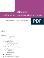 Odoo Cms Performance Comparison and Optimisation
