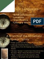 Semitic Languages(Huzy)