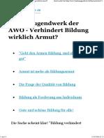 Bundesjugendwerk Der AWO - Verhindert Bildung Wirklich Armut