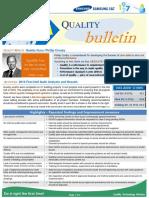 Samsung C&T Quality Bulletin-Issue 31 SEPTEMBER (2016)