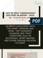 List of Best Cardiologist Doctors in Jaipur – 2016