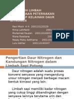 Pengaruh Limbah Perusahaan Peternakan Terhadap Kelainan Daur Nitrogen