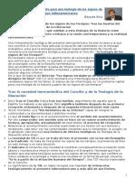 Resumen - Criterios de Discernimiento Para Una Teología de Los Signos de Los Tiempos Latinoamericanos