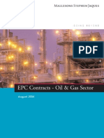EPC Contracts in the Oil & Gas Sector
