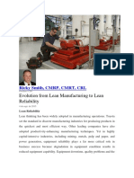 RICKY SMITH-Evolution from Lean Manufacturing to Lean Reliability.pdf