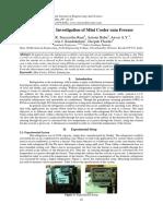 Experimental Investigation of Mini Cooler cum Freezer