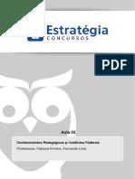 Cópia de Aula 0 - Conhecimentos Pedagógicos - Teoria e exercícios (3).pdf