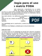 Metodología Para El Uso de La Matriz FODA