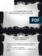 Human Resource and Industrial Relations
