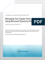 White Paper - Summarizing Supply Chain Management Using Dynamics AX 2009