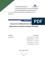 Ensayo SIG Banco Mercantil