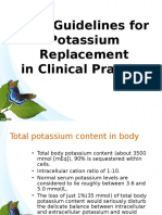 New Guidelines for Potassium Replacement