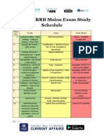 Railways RRB Mains Exam Study Schedule