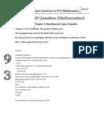 HotSpot Question in PT3 2017 Mathematics (Sample Question)
