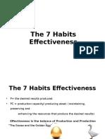 The 7 Habits Effectiveness
