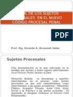 Sujetos Procesales en El NCPP