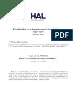 These de Doctorat Sur La Planification Et l'Ordonnancement Des Plateformes Logistiques
