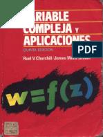 R. v. Churchill, James W. Brown-Variable Compleja y Aplicaciones-McGraw- Hill (1992)