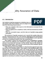 quality assurance data