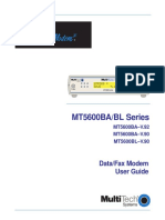 multitech modem MT5600BA/BL Series