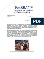 California State Senator Joel Anderson of California's 38th District named nonprofit organization Embrace Founder, Sean Sheppard, a California State Hero
