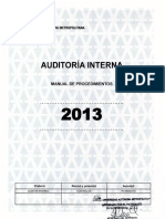Manual de Procedimientos de Auditoria 2013