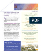 December 2009 Leadership Conference of Women Religious Newsletter