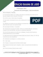 FEBAJU - Seminário Estadual de Arbitragem - 2016 - Parte 2 - Recomendações