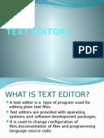 Text Editors (1)