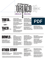 Tortaco menu