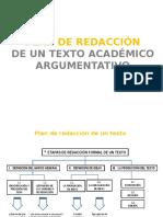 Plan de Redacción de Un Texto Académico Argumentativo