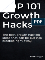 TOP 101 Growth Hacks by Aladdin Happy