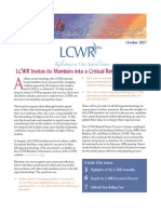 October 2007 Leadership Conference of Women Religious Newsletter