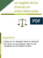 Derechos Legales de Las Personas Sin Documentos Adecuados