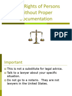 Legal Rights of Persons Without Proper Documentation