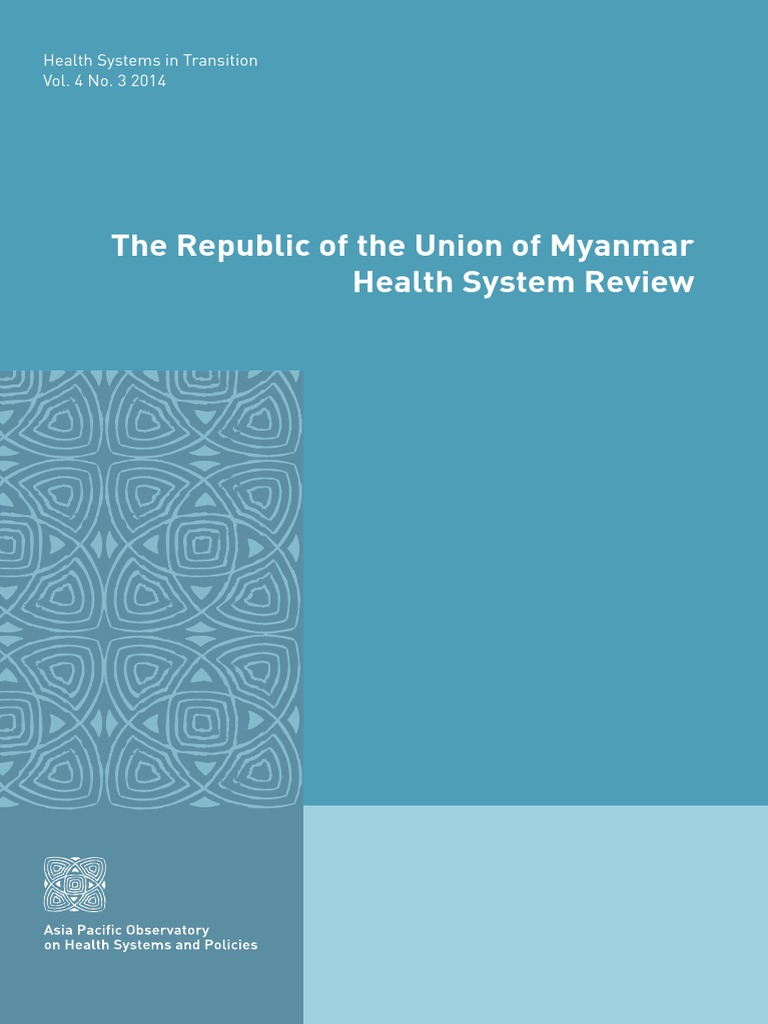 Myanmar Health Systems Review | Infant Mortality | Salud pública