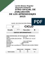 Registro Auxiliar de Evaluacion Primaria 2015 Formato