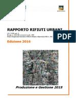 Rapporto rifiuti urbani in Veneto