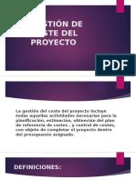 Gestion de Coste Del Proyecto