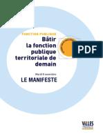 Villes de France Manifeste Novembre 2016