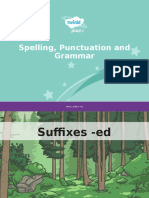Suffixes -ed
