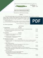 BEPC Epreuve d'Orthographe Zone 1 2014
